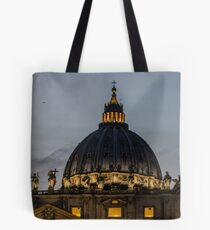 Amazing sunset on Rome Tote Bag