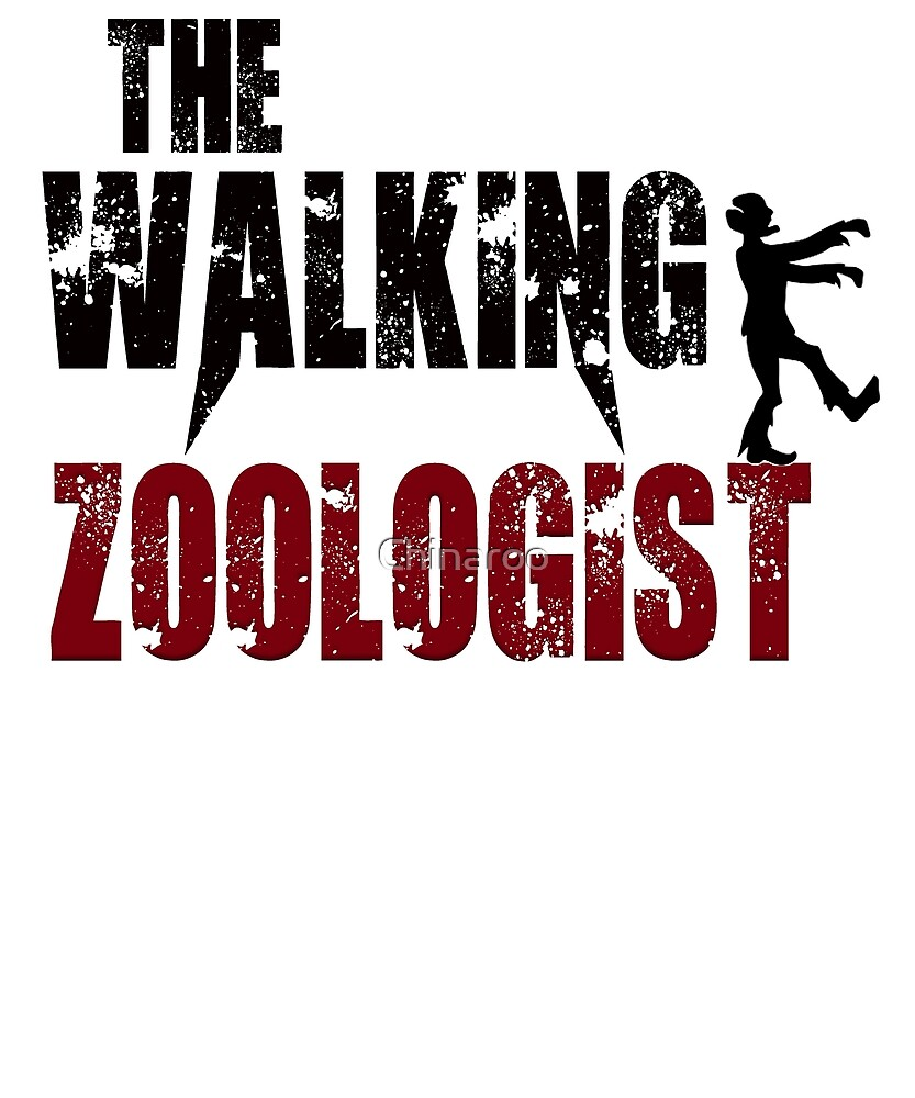 funny Zoologist, walking Zoo Animals pets zombie gift t shirt by Chinaroo