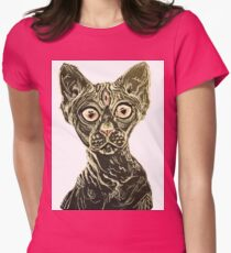 Hairless cat 3rd eye illustration T-Shirt