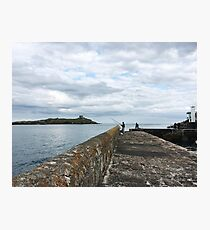 Fishing at Coliemore Harbour Photographic Print