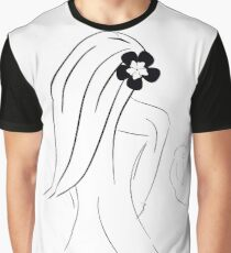Lady and the cat Graphic T-Shirt