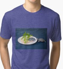 Adding fibers to food as food for tortoises, humouristic approach  Tri-blend T-Shirt
