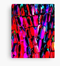 Dark Red Sugarcane Canvas Print