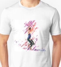 Digitally enhanced image of a woman Slacklining  T-Shirt