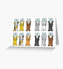 New job congratulations cartoon cats. Greeting Card
