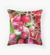 Summertime Radish Throw Pillow
