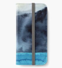 Watercolor landscape sky clouds iPhone Wallet