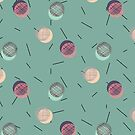 Scrawled Polka Dots and Sticks by designdn