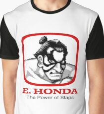 E. Honda - Street Fighter -  The Power of Slaps Graphic T-Shirt
