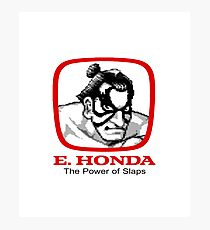 E. Honda - Street Fighter -  The Power of Slaps Photographic Print
