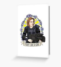 """Dana Scully """"Fight like a girl"""" X Files Greeting Card"""