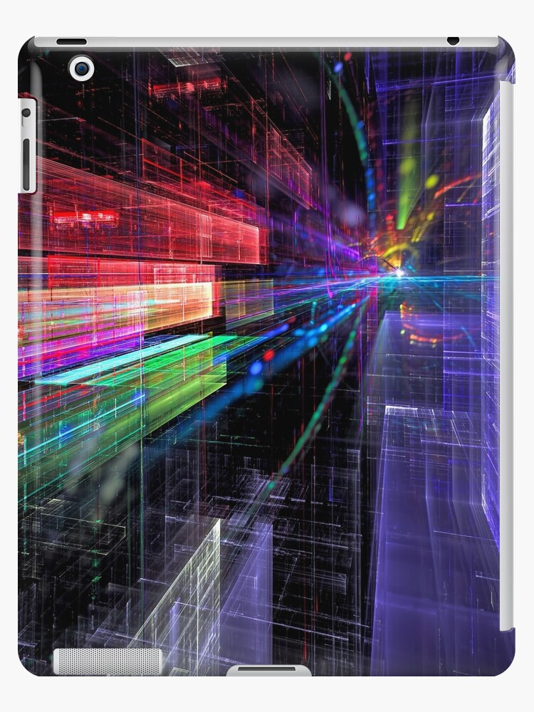 'Future city street - abstract computer-generated image' iPad Case/Skin by  OlgaSalt