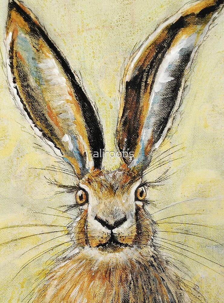 Mixed media Hare by aliroobs