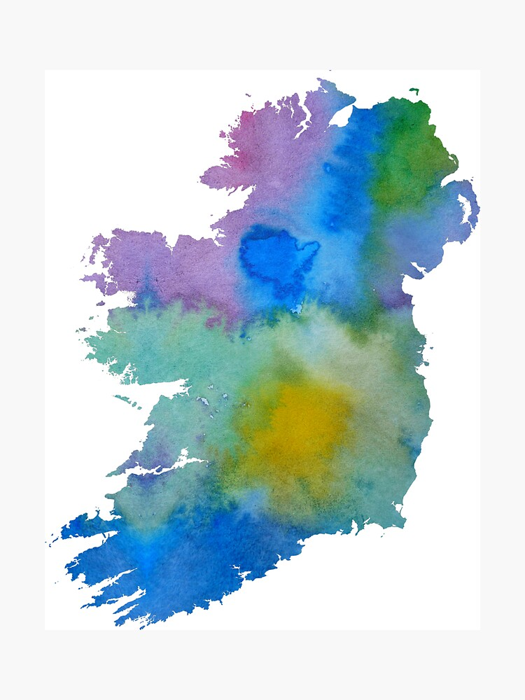 Colorful ireland silhouette by BittenByErmines