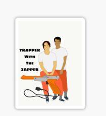 Trapper With The Zapper Sticker