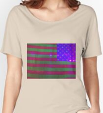 American Flag on Halloween closeup Women's Relaxed Fit T-Shirt