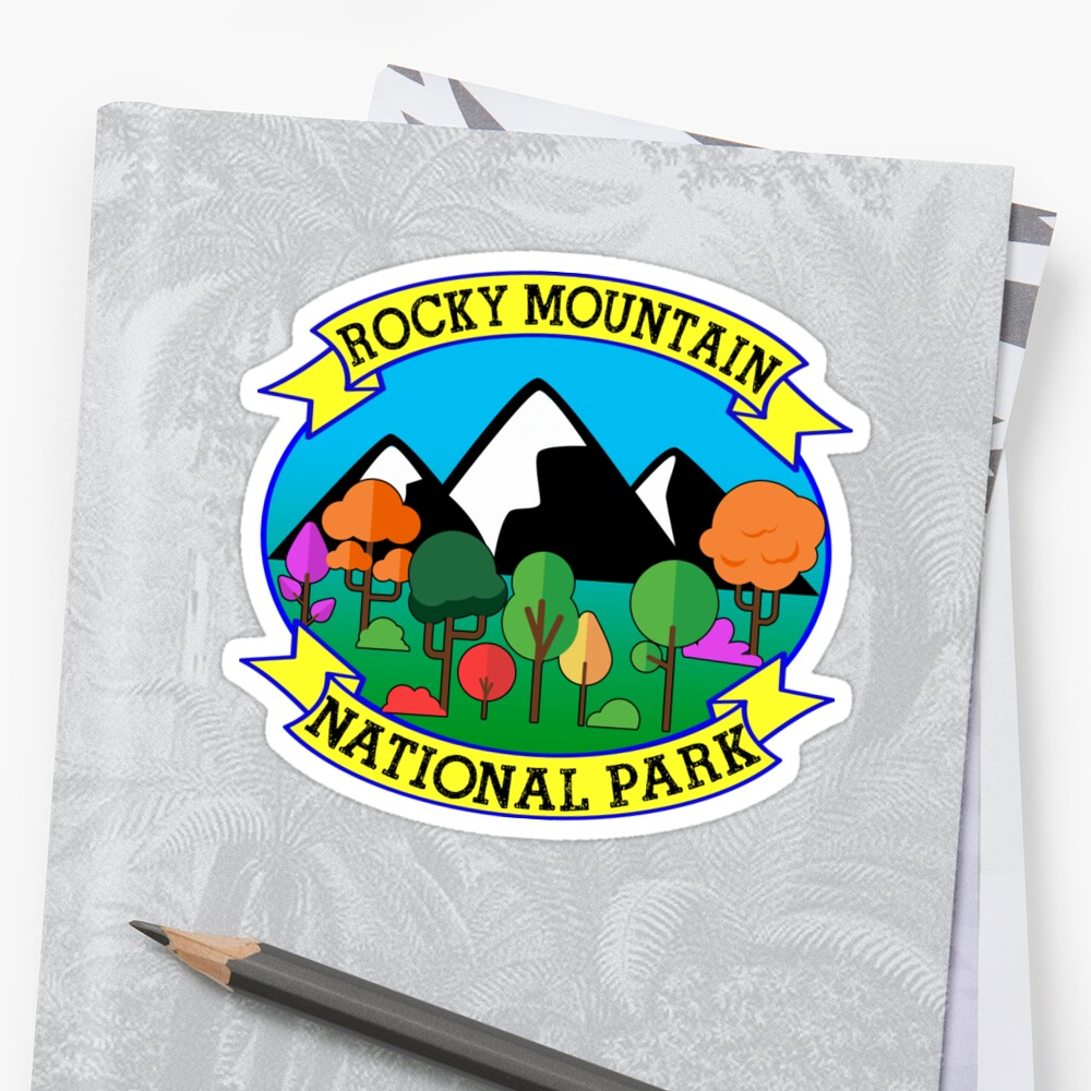 ROCKY MOUNTAIN NATIONAL PARK COLORADO HAPPY CAMPER CAMPING HIKING CLIMBING by TravelTime