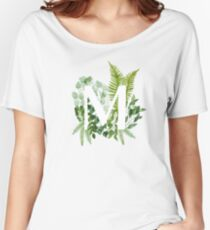 Floral letter M Women's Relaxed Fit T-Shirt