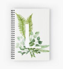 Floral letter L Spiral Notebook