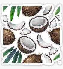 Watercolor coconut pattern Sticker