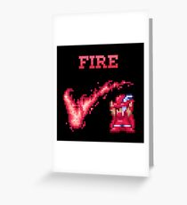 R Mage FIRE Greeting Card