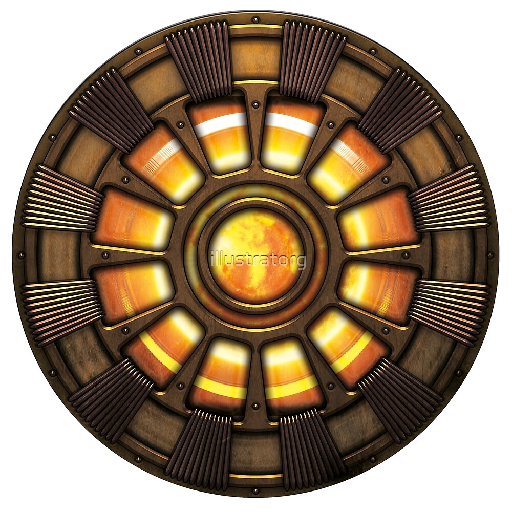 Steampunk Arc reactor by illustratorg