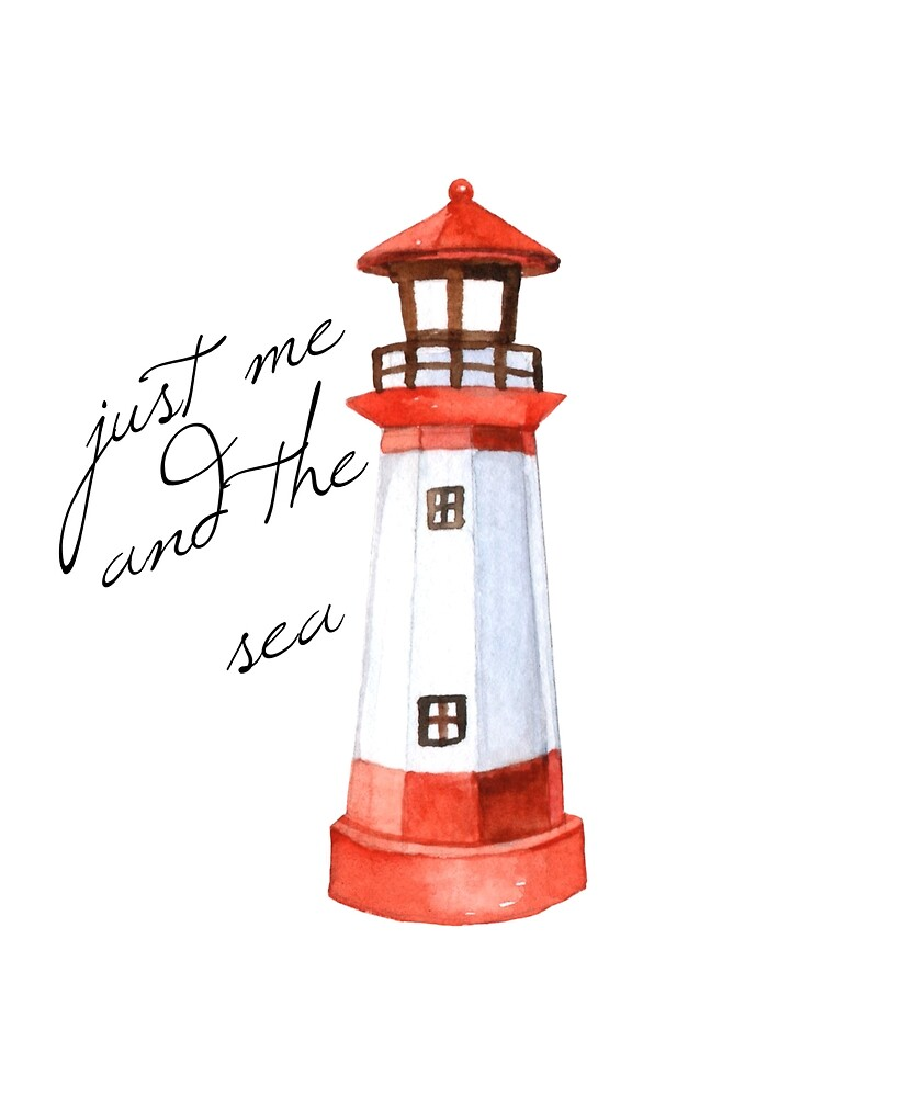 Just Me and the Sea Lighthouse T-Shirt by DSweethearts