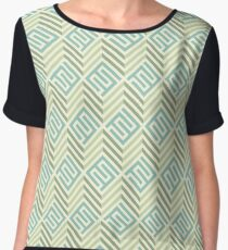 Retro Pattern Women's Chiffon Top