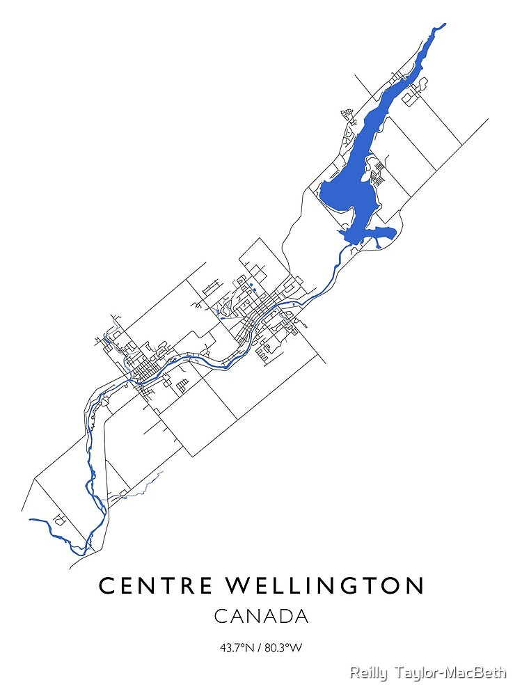 Centre Wellington Line Map by Reilly  Taylor-MacBeth