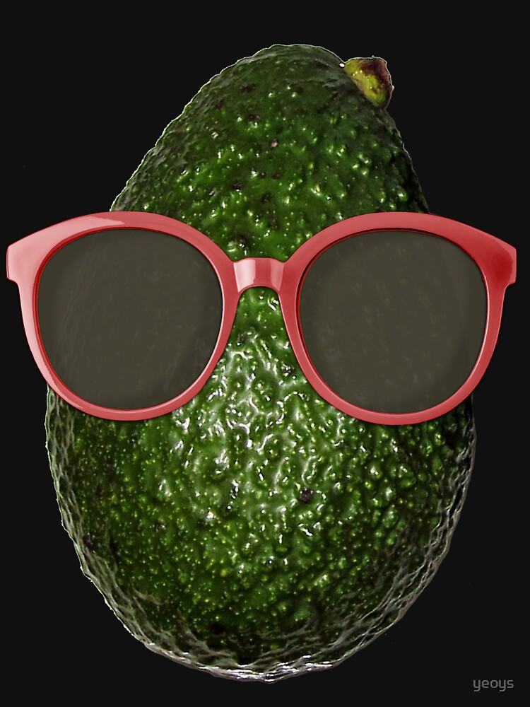 Avocado Gifts > Funny Avocado Wearing Sunglasses > Avocado by yeoys