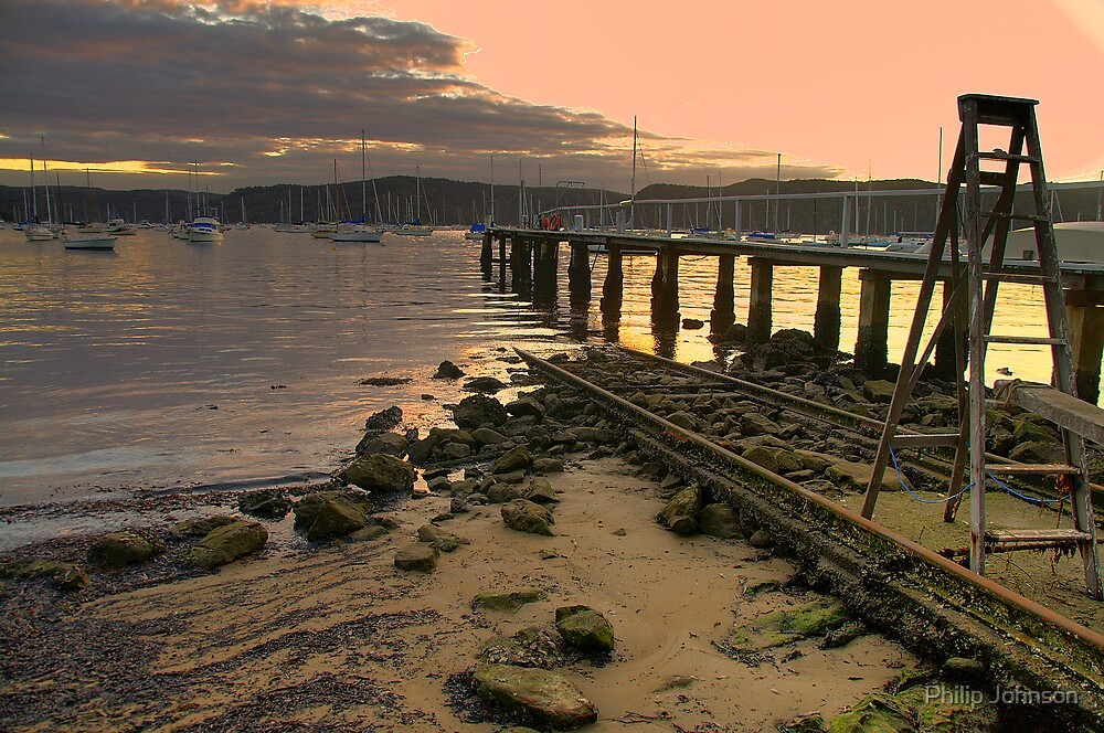 Step Up To The Sunset - Clareville - Sydney Beaches - The HDR Series by Philip Johnson