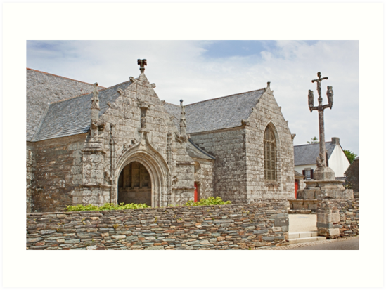 Typical Church in Finistere Brittany France by Buckwhite