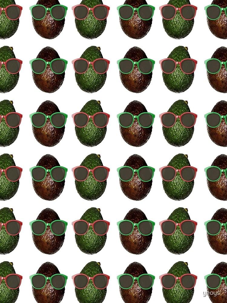 Avocado Gifts > Funny Avocados Wearing Sunglasses > Avocado by yeoys