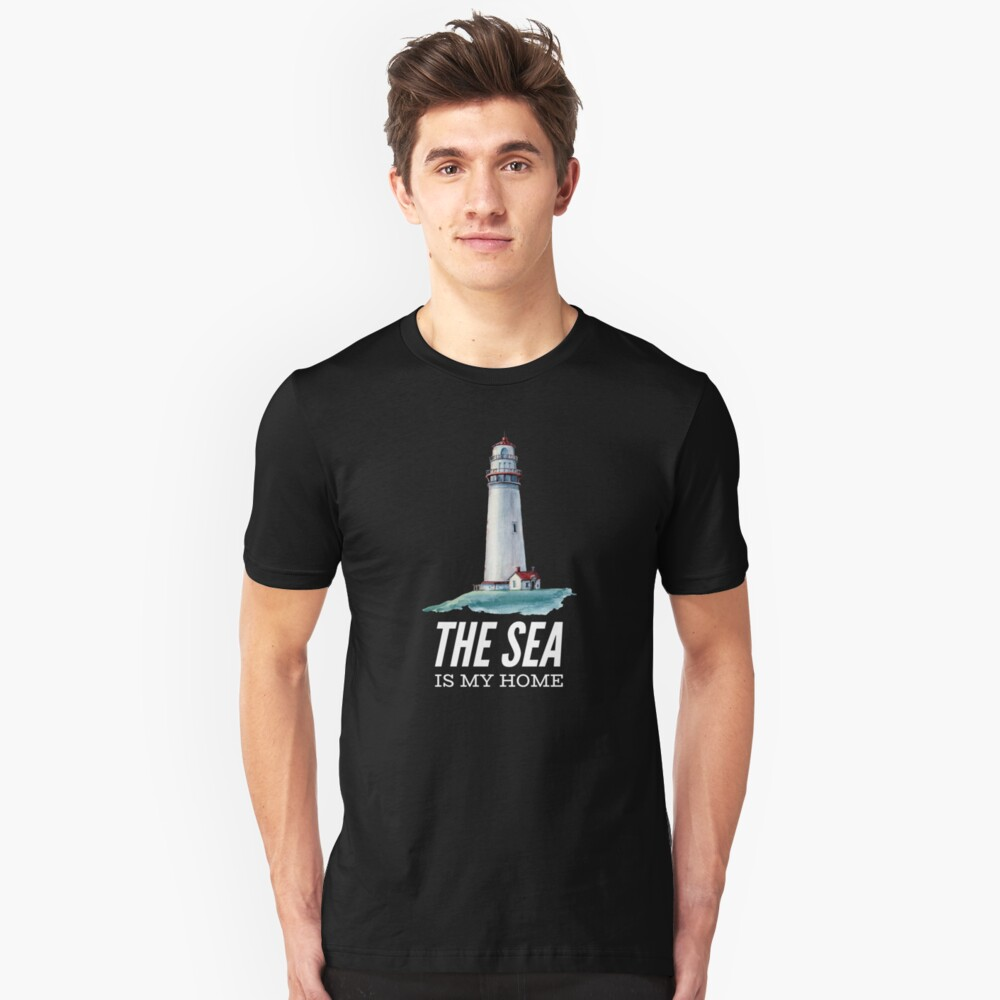 The Sea is my Home Lighthouse T-Shirt Unisex T-Shirt Front