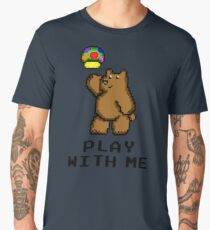 8-Bit Bear - Play with Me Men's Premium T-Shirt