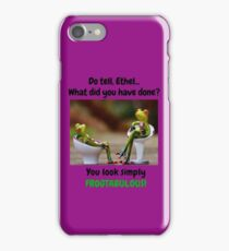 Lady Frogs Looking Frogtabulous! iPhone Case/Skin