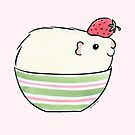 Cream ( guinea pig ) with Strawberry by zoel