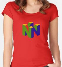 Retro Nintendo Logo Women's Fitted Scoop T-Shirt