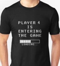 Player 4 Loading Pregnancy Announcement Maternity T-Shirt