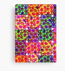 patchwork geometric flower print  Canvas Print