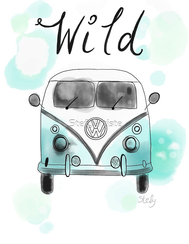 Westfalia watercolor folly by StefyArtiste
