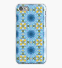 BLUE AND WHITE ART . iPhone Case/Skin