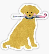 Pegatina Golden Retriever Preppy Madras Field Hockey Dog