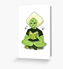 Peridot loves to read Greeting Card