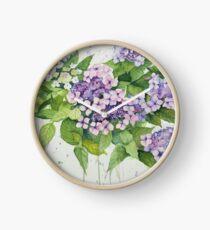 Lavender Lace Cap Floral Clock