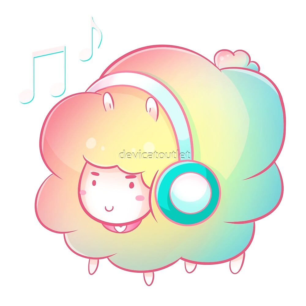 DJ Rainbow Sheep by devicatoutlet