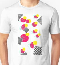 80's abstract memphis milano tropical retro design T-Shirt