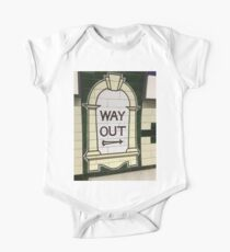 Way Out Sign (London Underground) One Piece - Short Sleeve