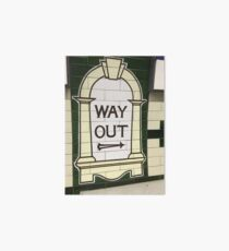 Way Out Sign (London Underground) Art Board