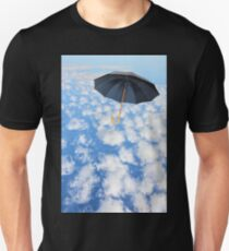 Mary Poppins Umbrella flies in sky. T-Shirt